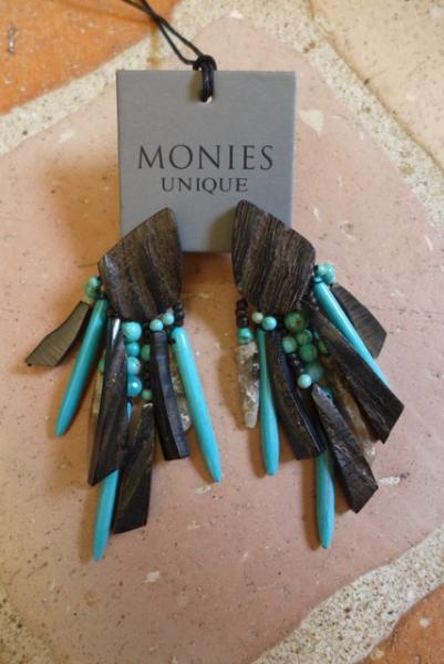 MONIES - PU - Turquoise, Horn, Mountain crystal