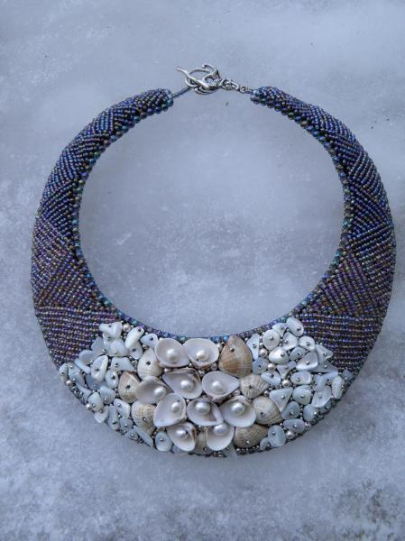 PIAF - Collier Perles et coquillages