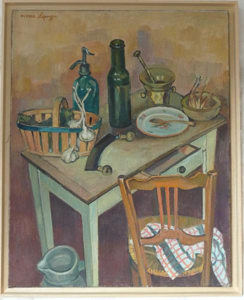 Pierre Lepage - Chaise, table & panier - HST - 92/73